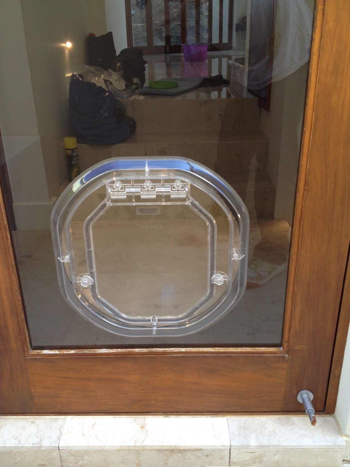 Glaztec medium dog door for Double door with dog door