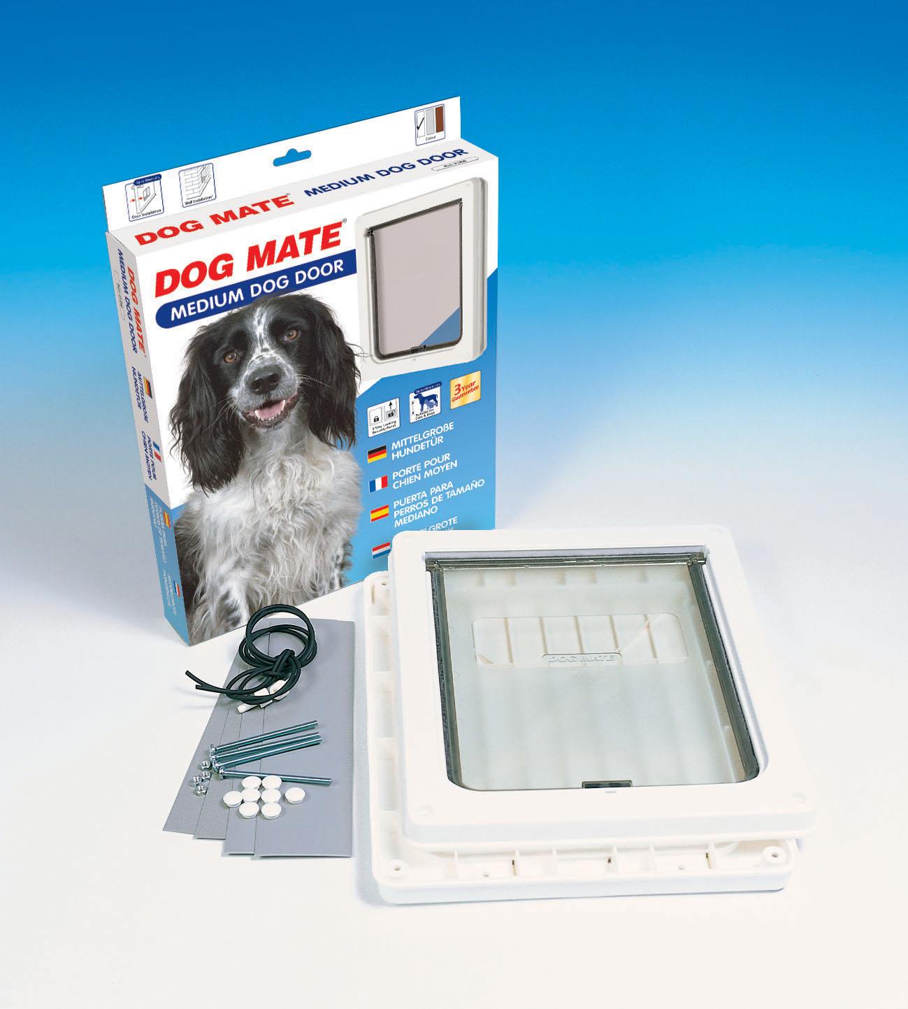 Dogmate Dog Door With Liner Medium Size Brown