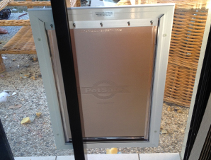 Large Staywell Aluminum Pet Door With Flexible Flap